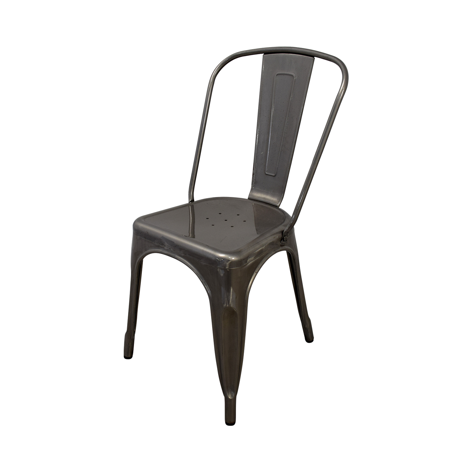 ... Brushed Metal Bistro Chairs Second Hand