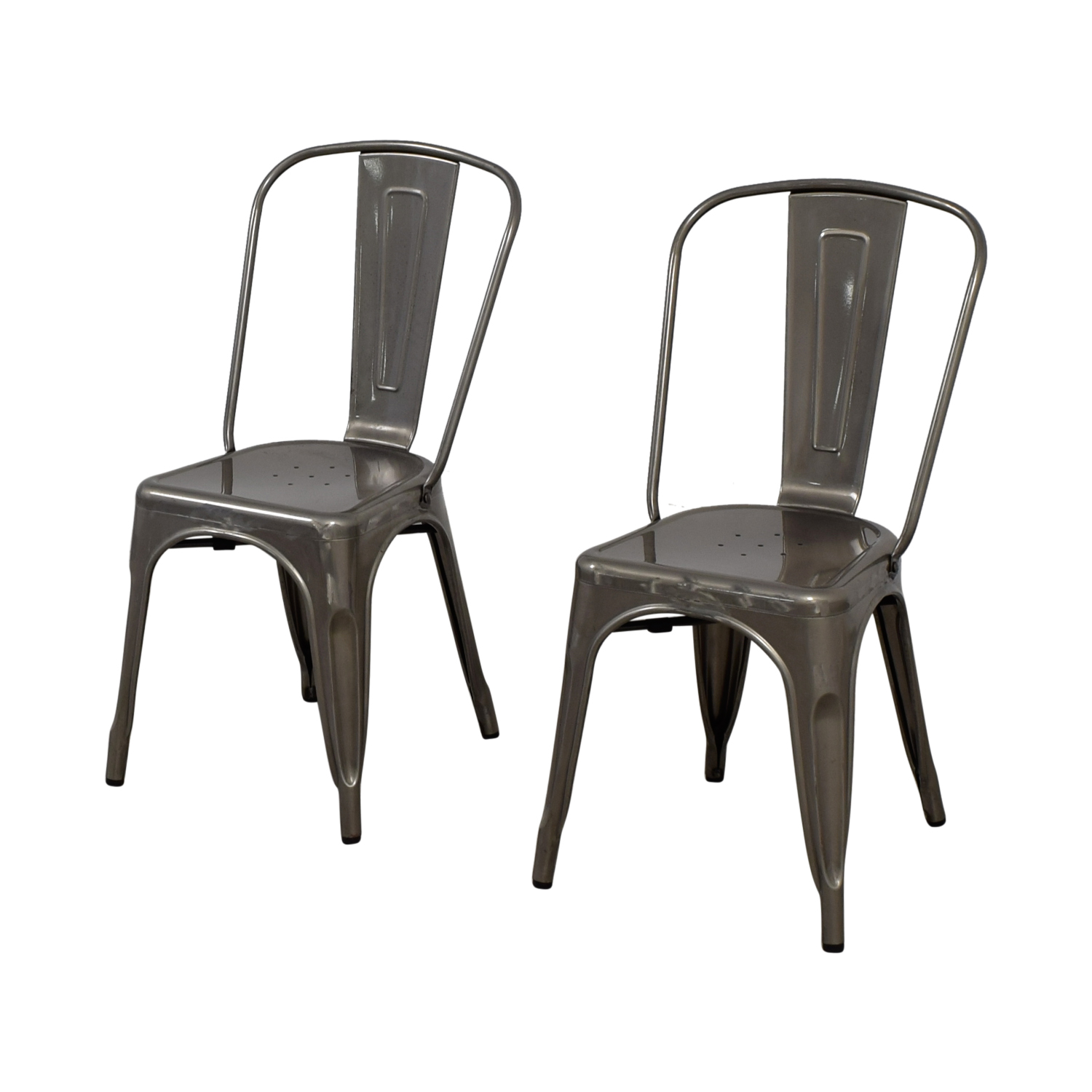 ... Brushed Metal Bistro Chairs Discount ...