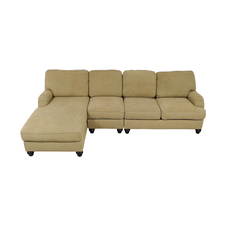 70% OFF - Ashley\'s Furniture Ashley\'s Furniture Tan Sectional Sofa ...