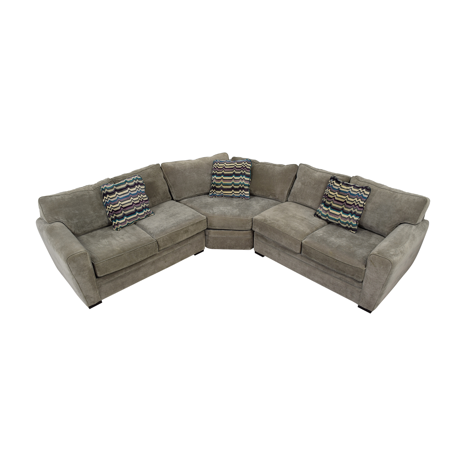 shop Raymour & Flanigan Raymour & Flanigan Grey L-Shaped Sectional online