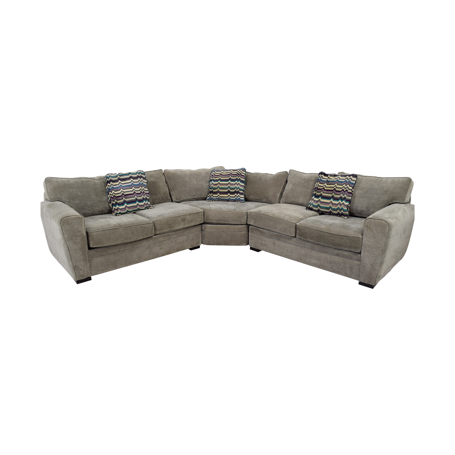 Raymour & Flanigan Raymour & Flanigan Grey L-Shaped Sectional