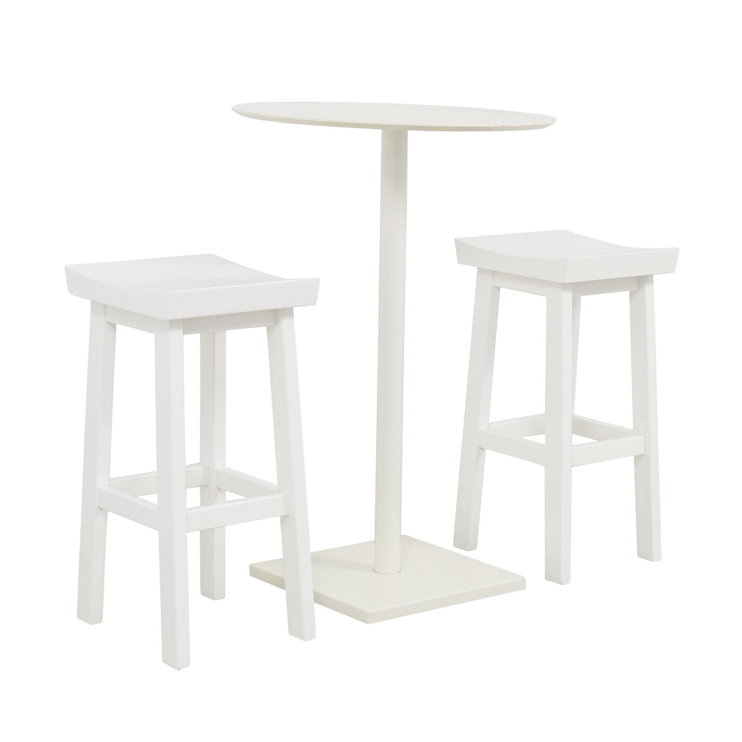 OFF CB CB White HighTop Table And Stools Tables - Cb2 high top table
