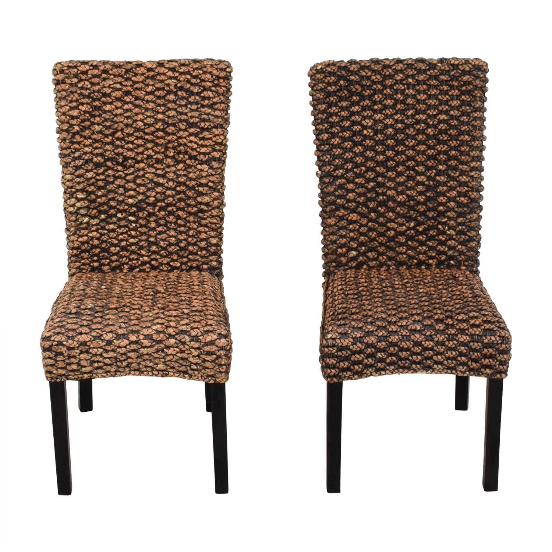 90 Off Beachcrest Home Beachcrest Home Anaya Wicker Dining Chairs Chairs