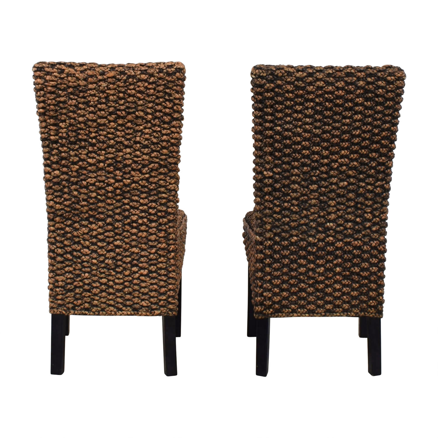 Beachcrest Home Beachcrest Home Anaya Wicker Dining Chairs Black, Gold