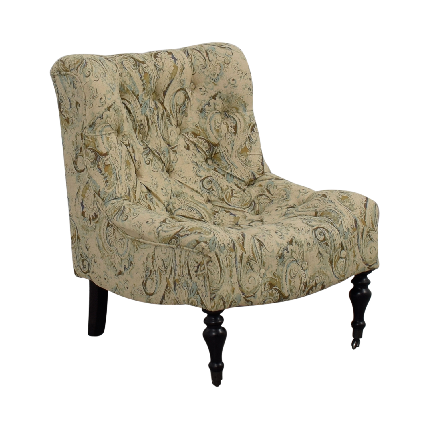 Genial ... Buy Bombay Beige With Blue And Green Upholstered Accent Chair Bombay  Chairs ...