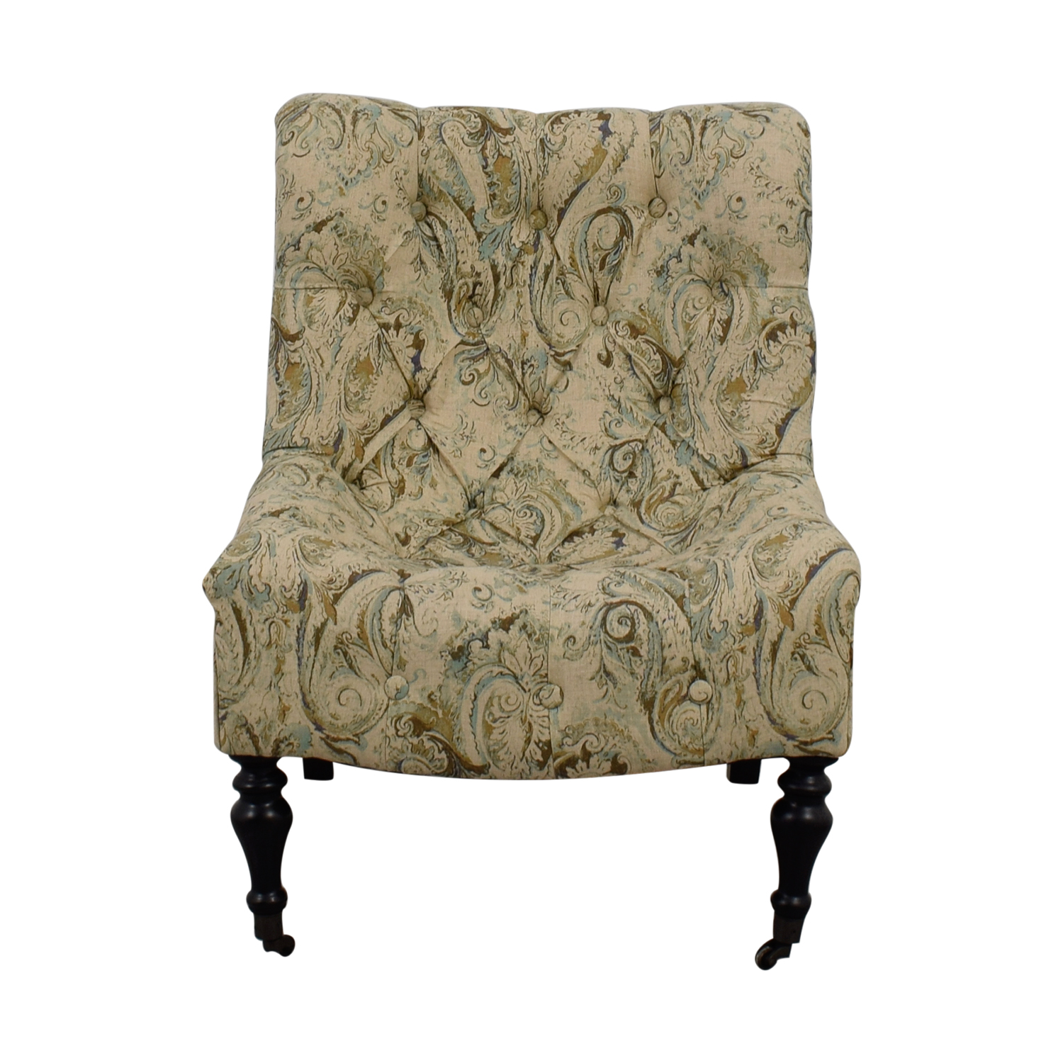 Bombay Bombay Beige with Blue and Green Upholstered Accent Chair on sale