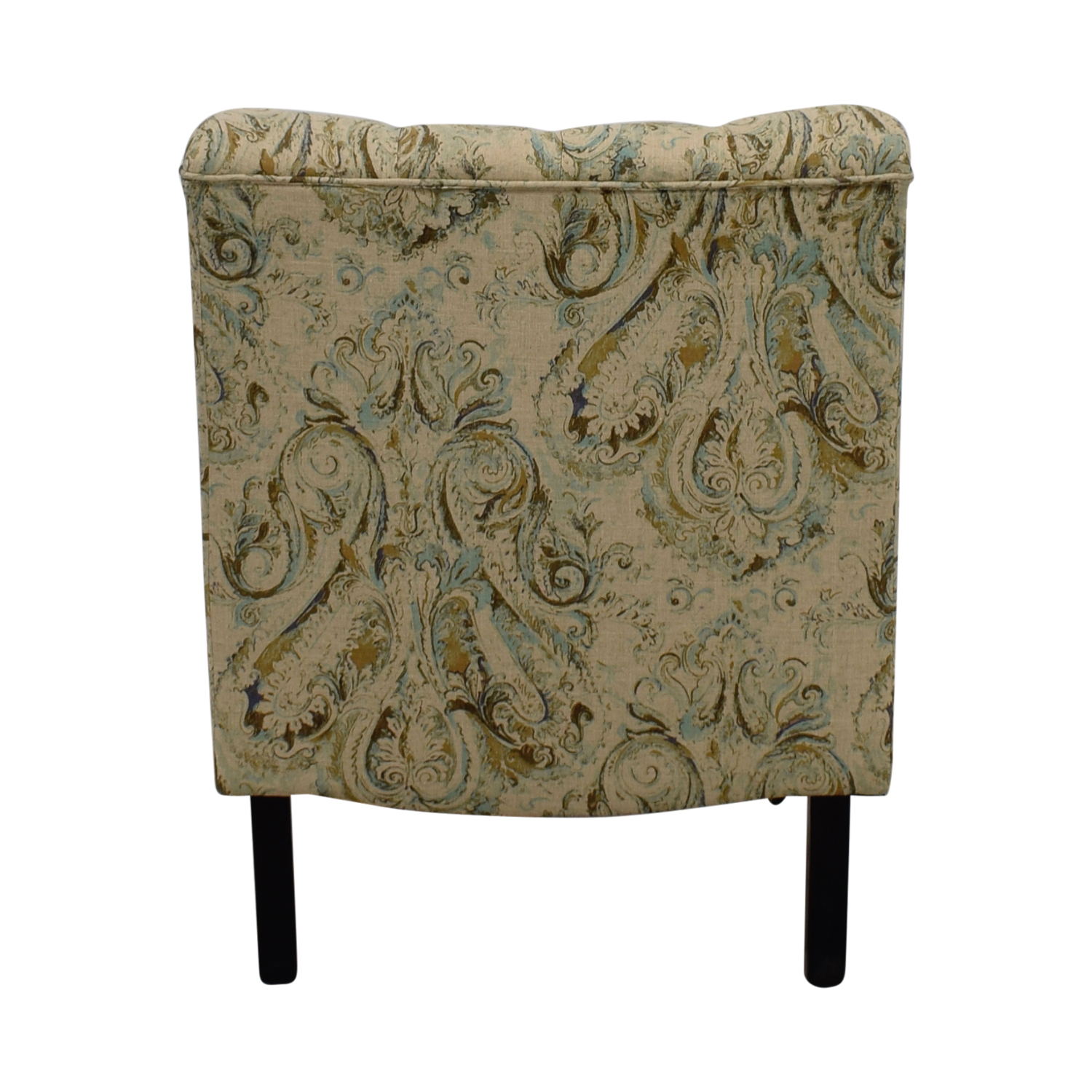 Bombay Bombay Beige with Blue and Green Upholstered Accent Chair nj