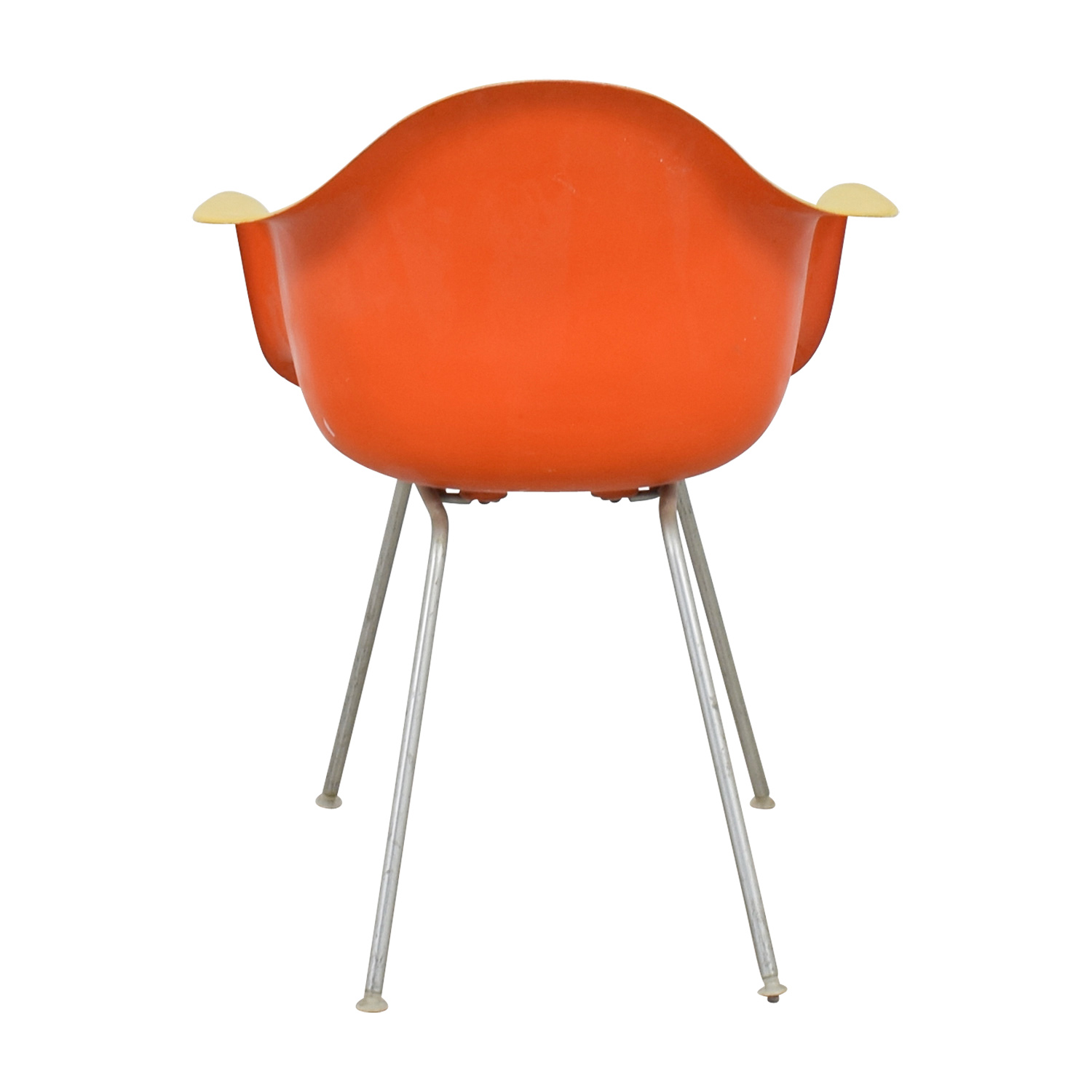... Orange Plastic Chairs #39   ... Yellow And Orange Plastic Eames  Inspired Arm ...