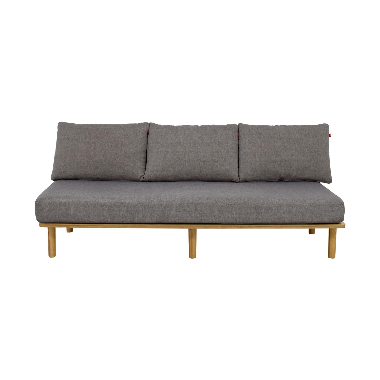 Greycork Greycork Felix Grey Single Cushion Sofa used
