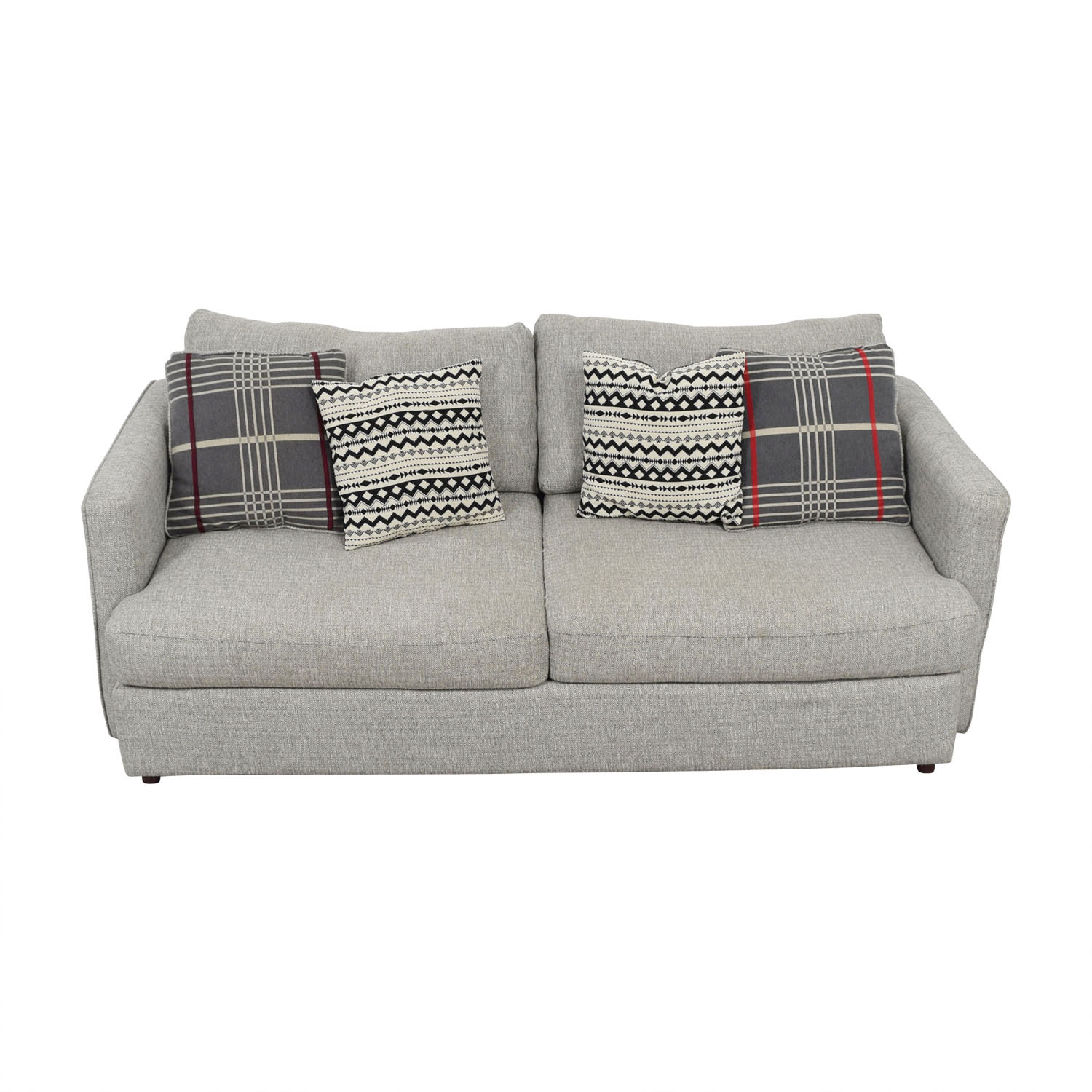 buy American Furniture Grey Two-Cushion Tweed Sofa American Furniture Classic Sofas
