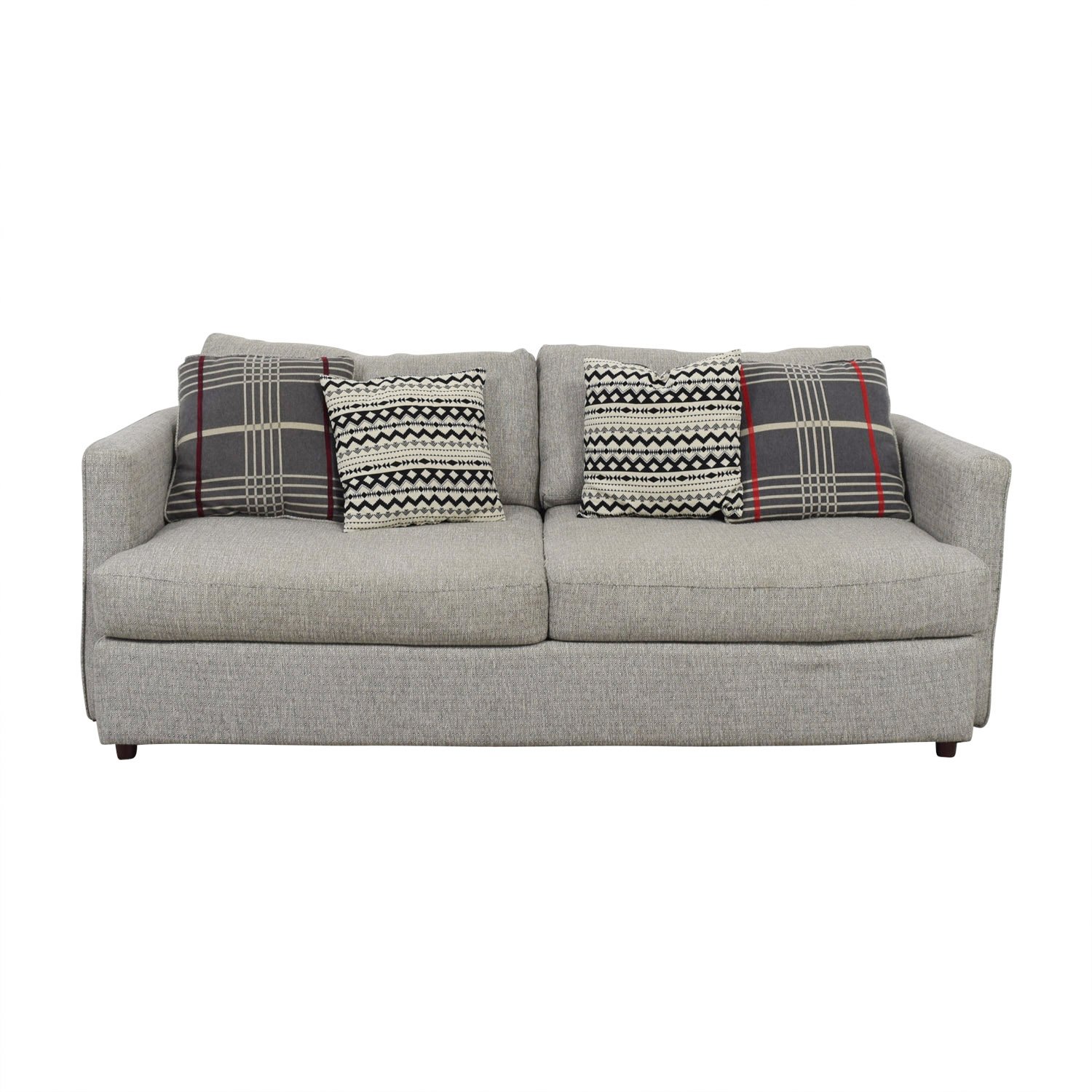 American Furniture American Furniture Grey Two-Cushion Tweed Sofa used