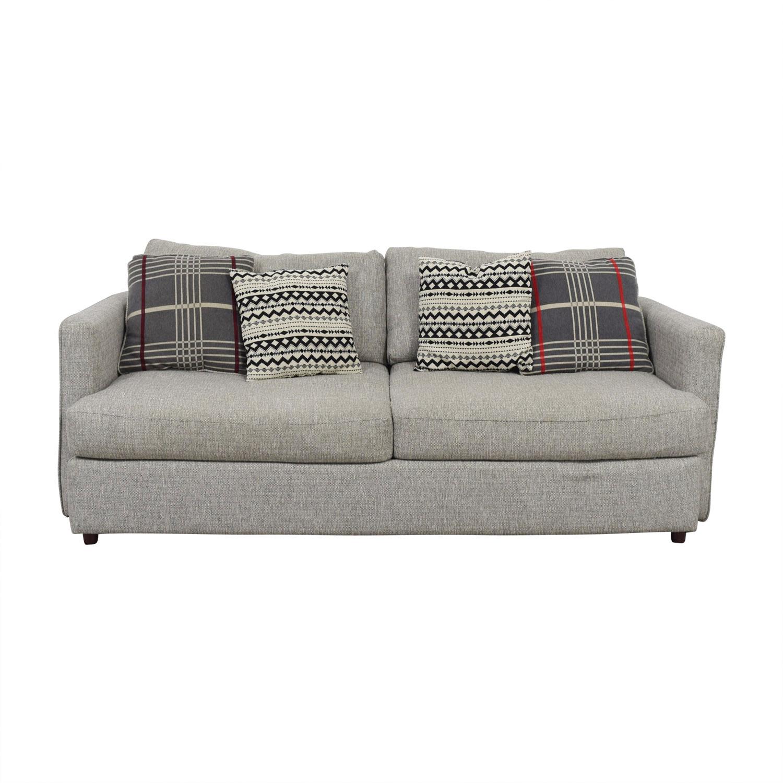 51 Off American Furniture Warehouse Grey Two Cushion Tweed Sofa Sofas