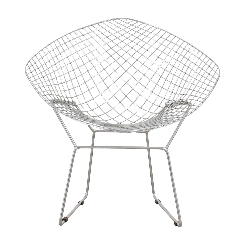 Bertoia Style Metal Chair