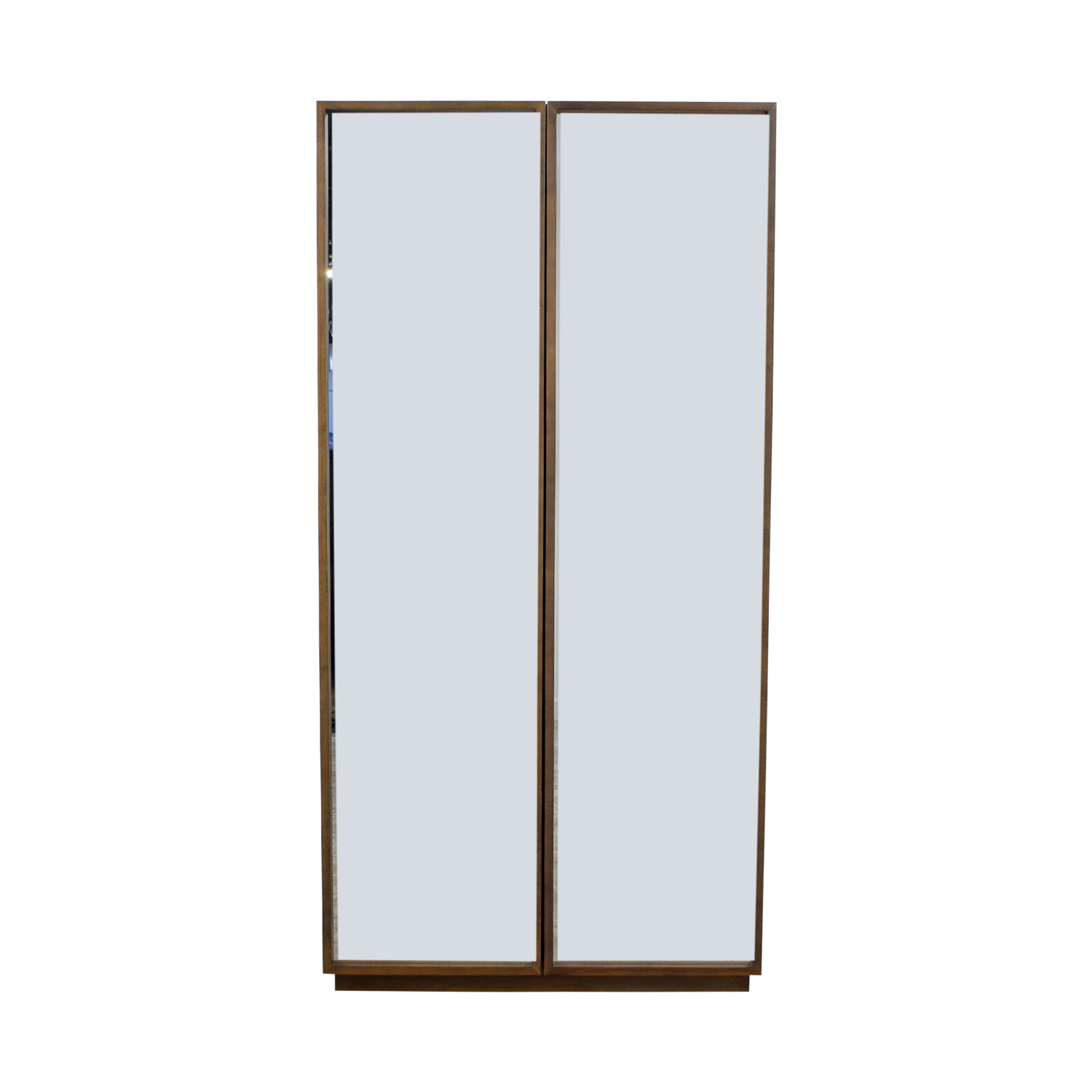 CB2 CB2 Mirrored Armoire with Shelves second hand