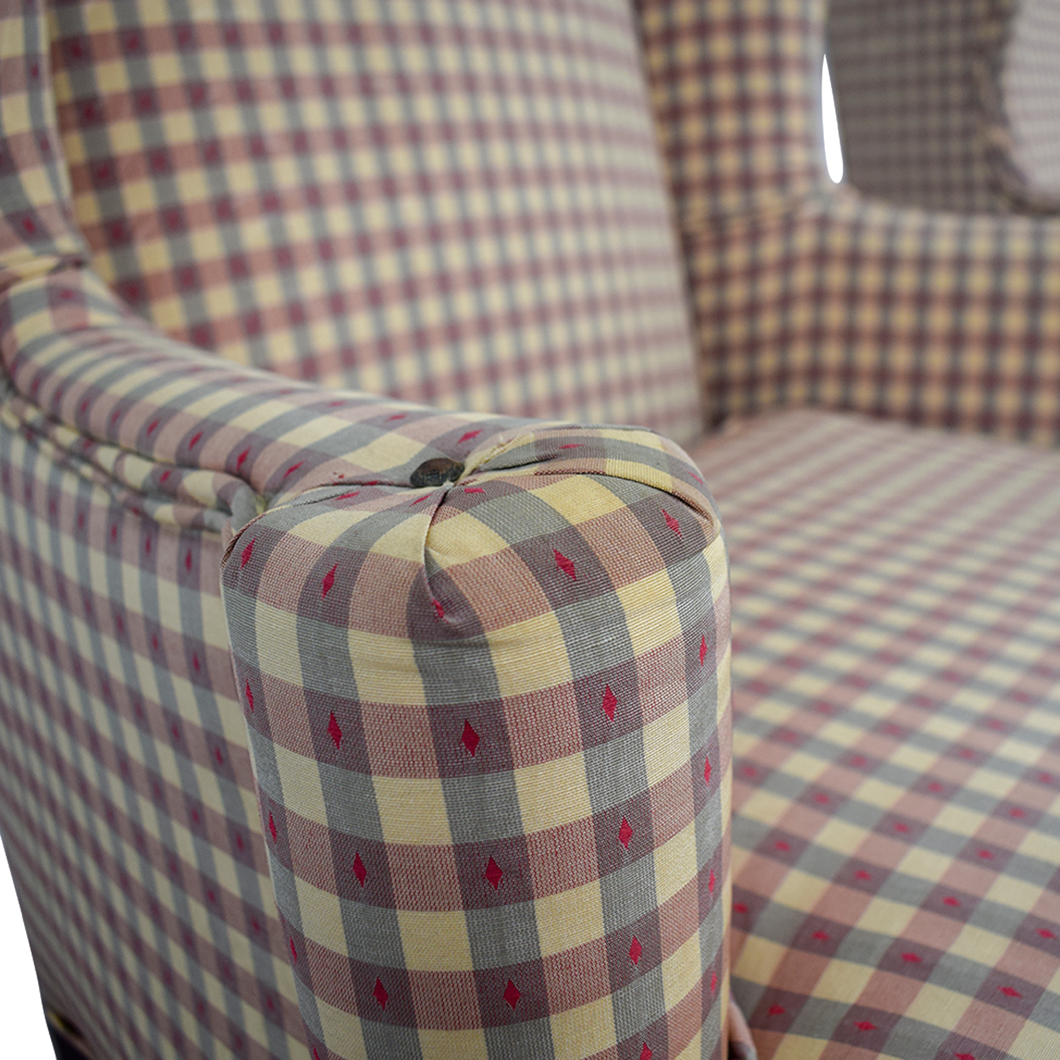 Ethan Allen Ethan Allen Plaid Queen Anne Accent Chairs Accent Chairs