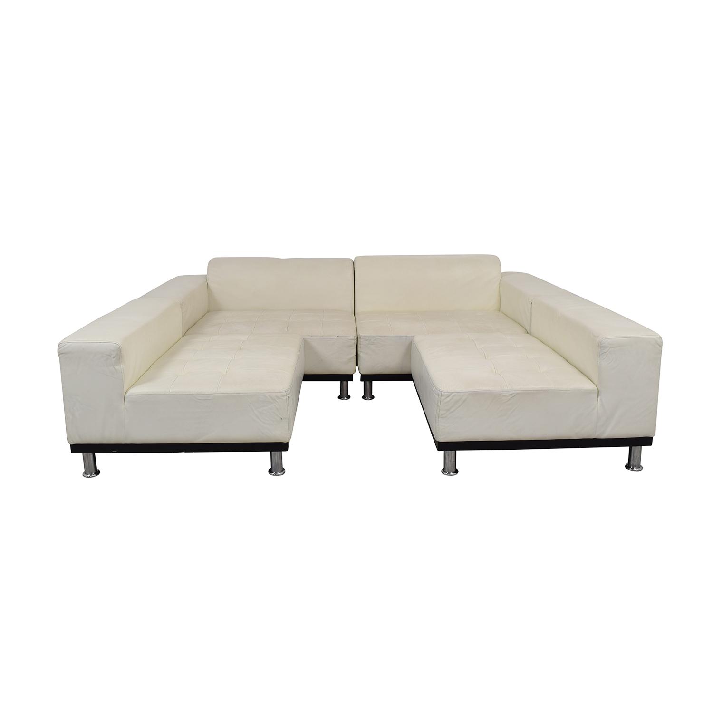 UrbanMod UrbanMod Phantom White Leather Sectional for sale