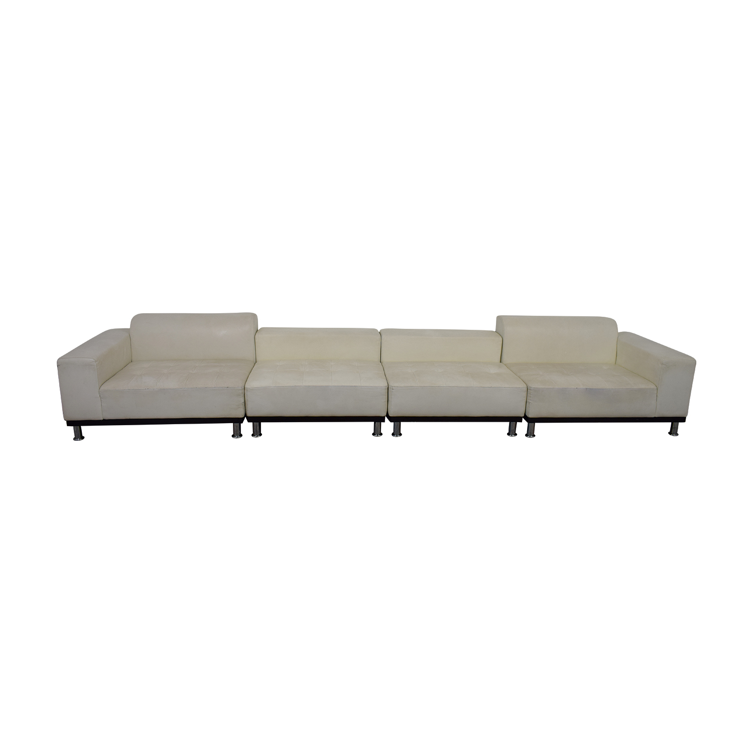 UrbanMod UrbanMod Phantom White Leather Sectional discount