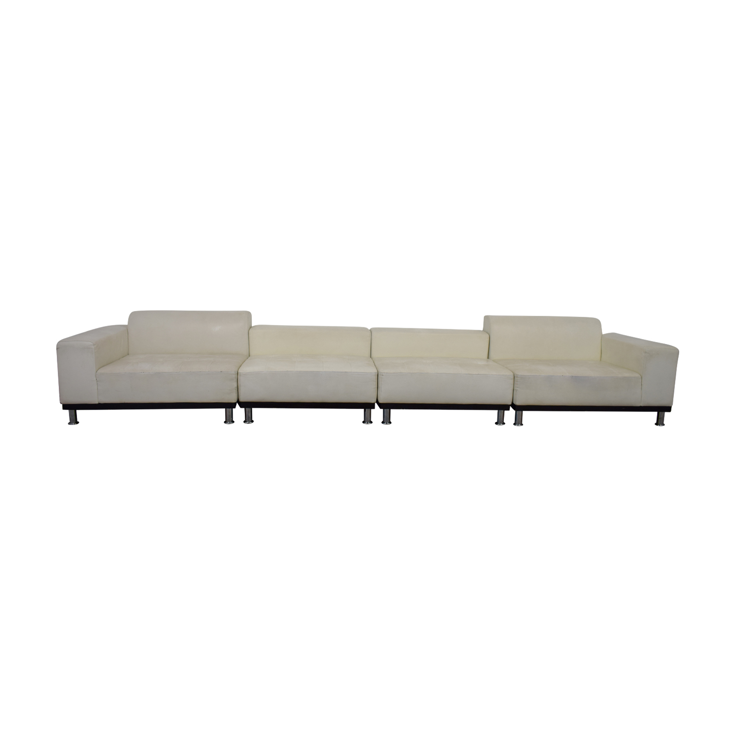 UrbanMod UrbanMod Phantom White Leather Sectional for sale