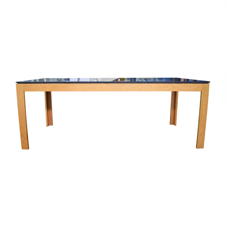 shop Heal's of London Heal's of London Oak Table with Black Top online