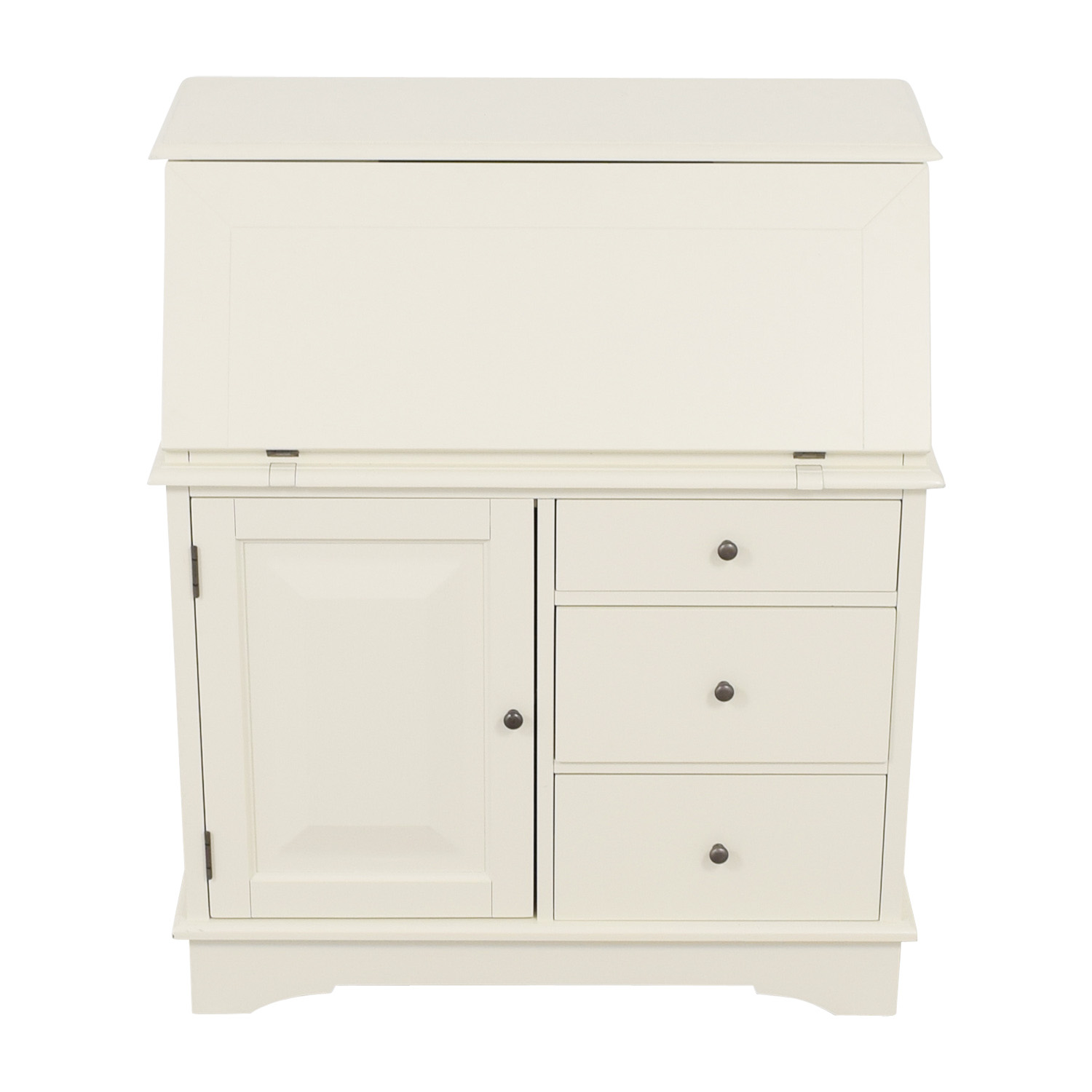 Pottery Barn Antique White Graham Secretary Desk Pottery Barn