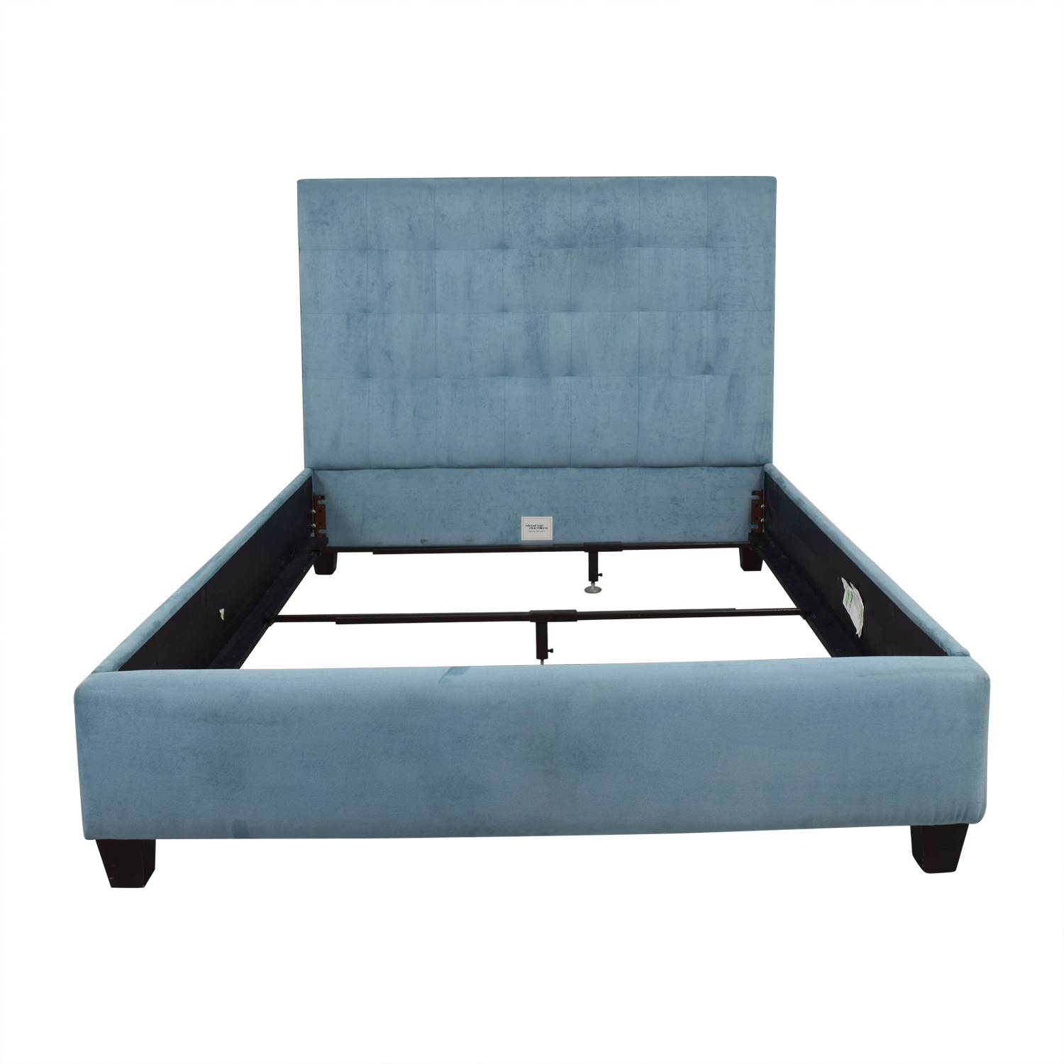shop Mitchell Gold + Bob Williams Butler Teal Queen Floating Rail Bed Frame Mitchell Gold + Bob Williams
