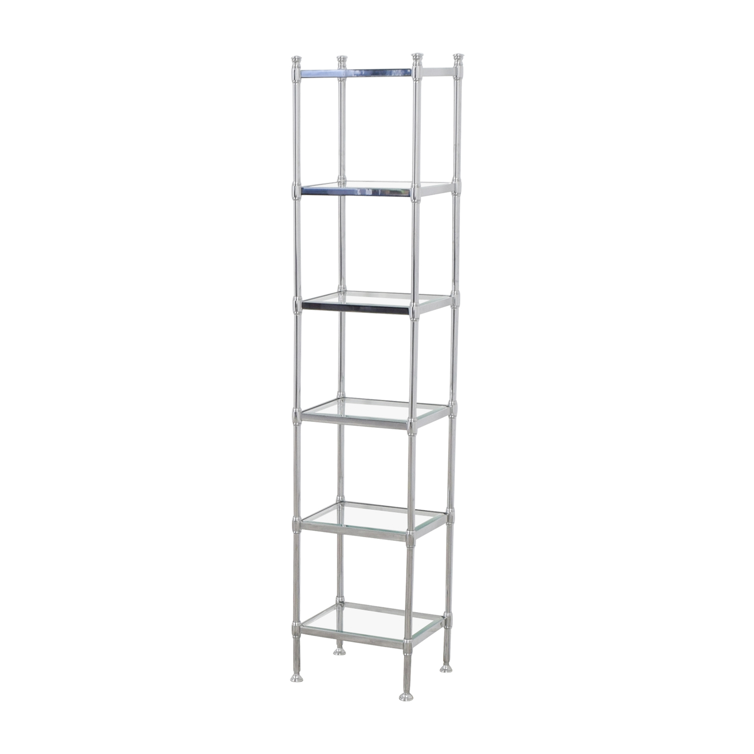 Waterworks Waterworks Chrome and Glass Bathroom Storage Etagere Bookcases & Shelving