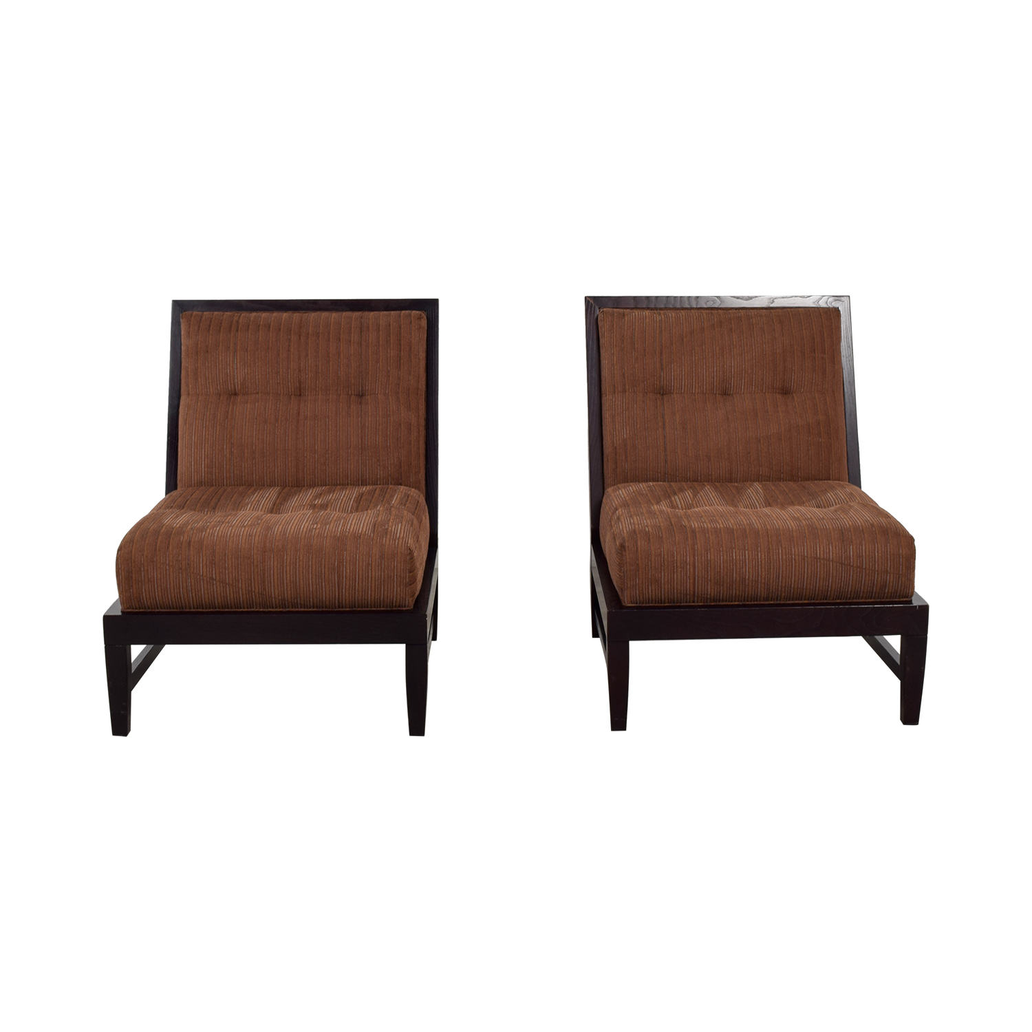 Vanguard Furniture Vanguard Furniture Brown Upholstered Side Chairs for sale