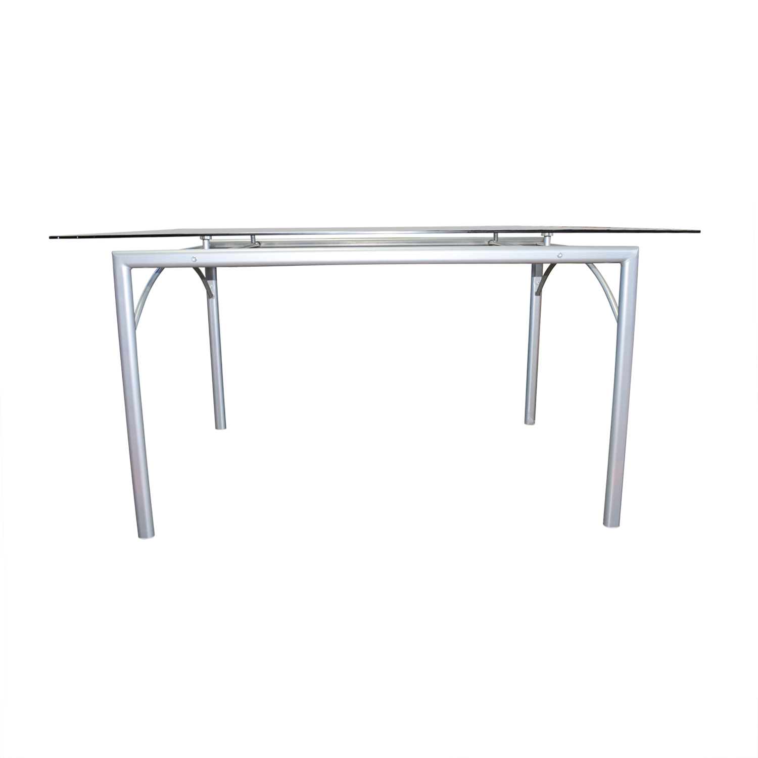 Coaster Coaster Rectangular Glass and Metal Dining Table dimensions