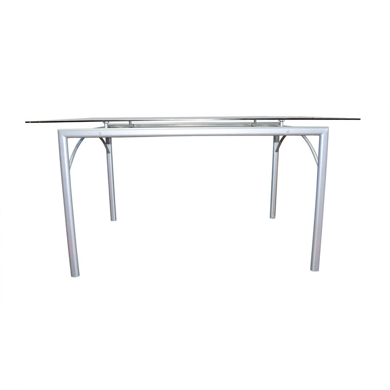 Coaster Rectangular Glass and Metal Dining Table sale