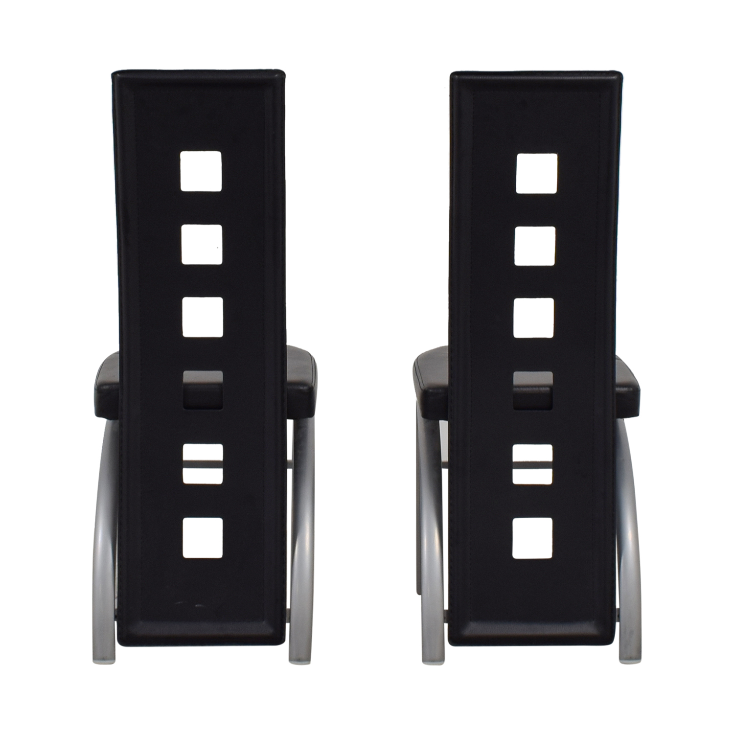 shop Coaster Contemporary Black & Metal Dining Chairs Coaster Dining Chairs