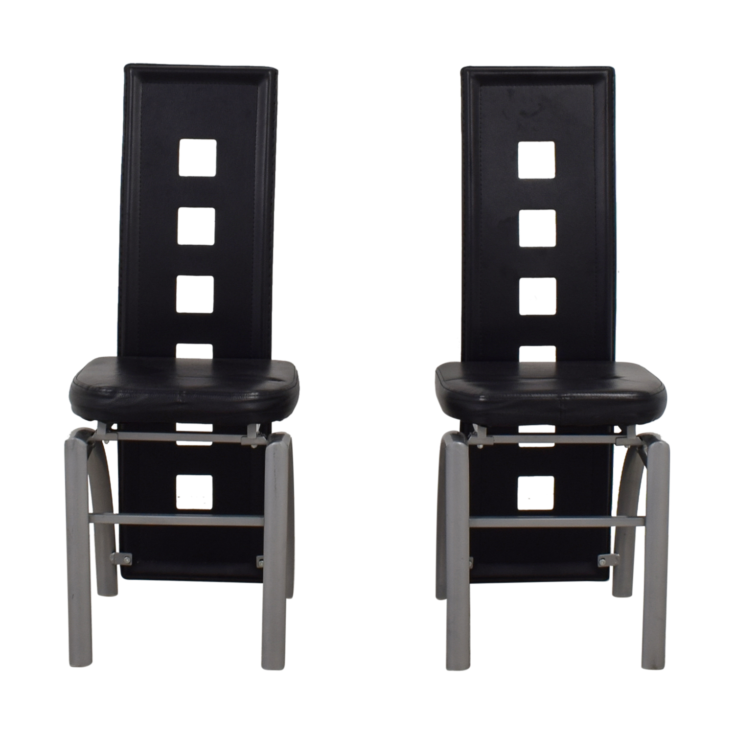 Coaster Contemporary Black Metal Dining Chairs