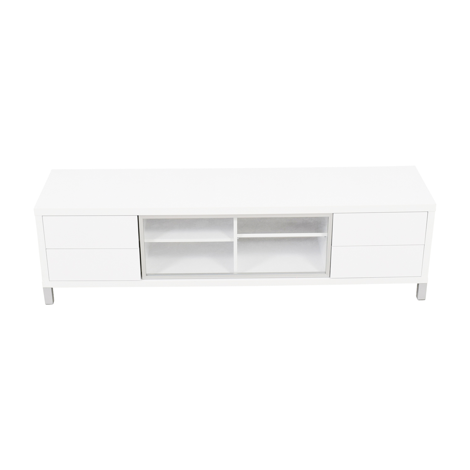 Monarch Monarch Specialties White TV Console second hand