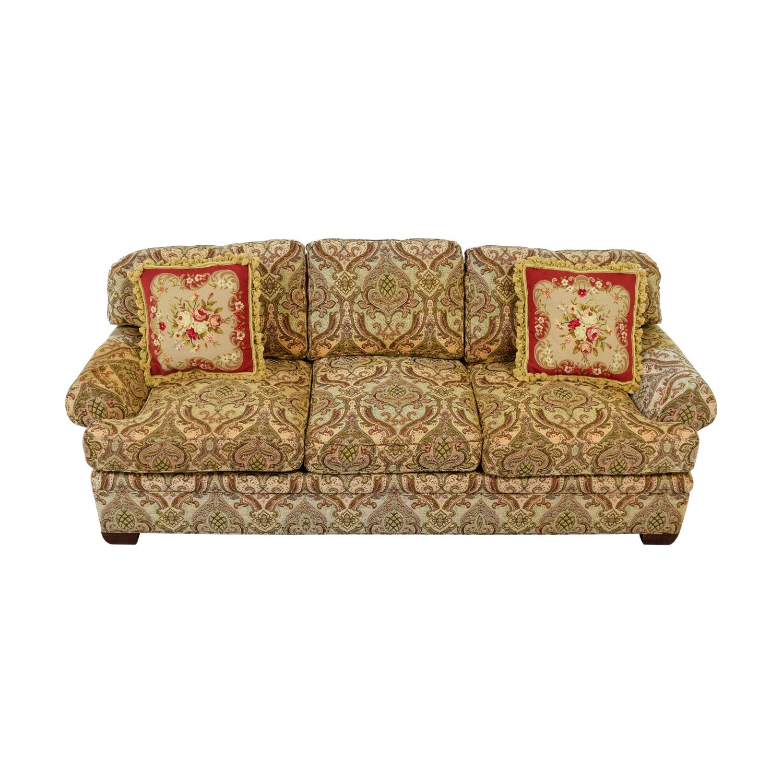 ... Kravet Kravet Custom Chenille Paisley Three Cushion Sofa Nyc ...