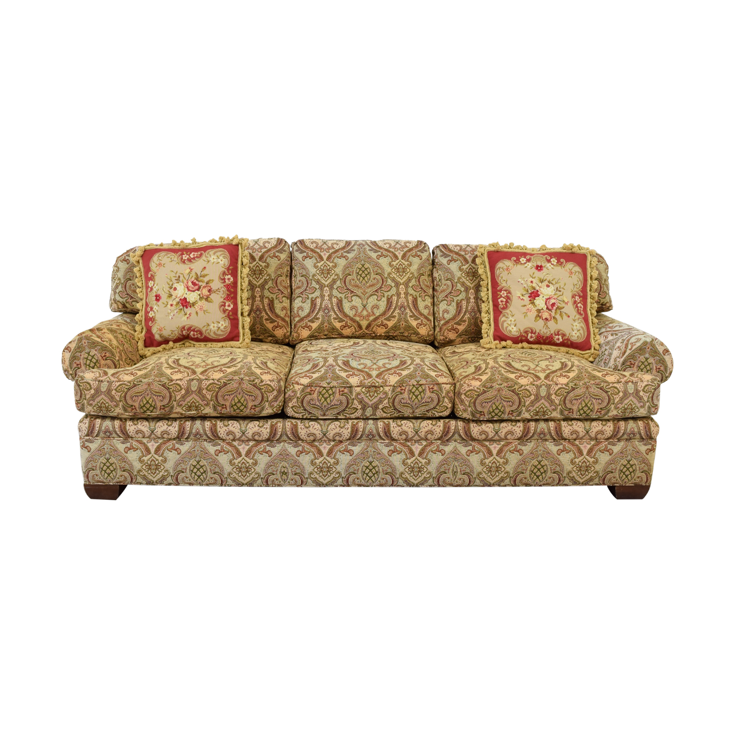 Kravet Kravet Custom Chenille Paisley Three-Cushion Sofa used