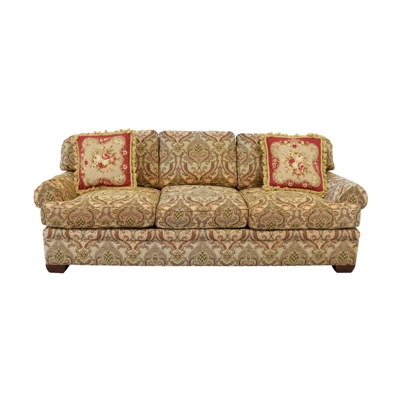 shop Kravet Kravet Custom Chenille Paisley Three-Cushion Sofa online
