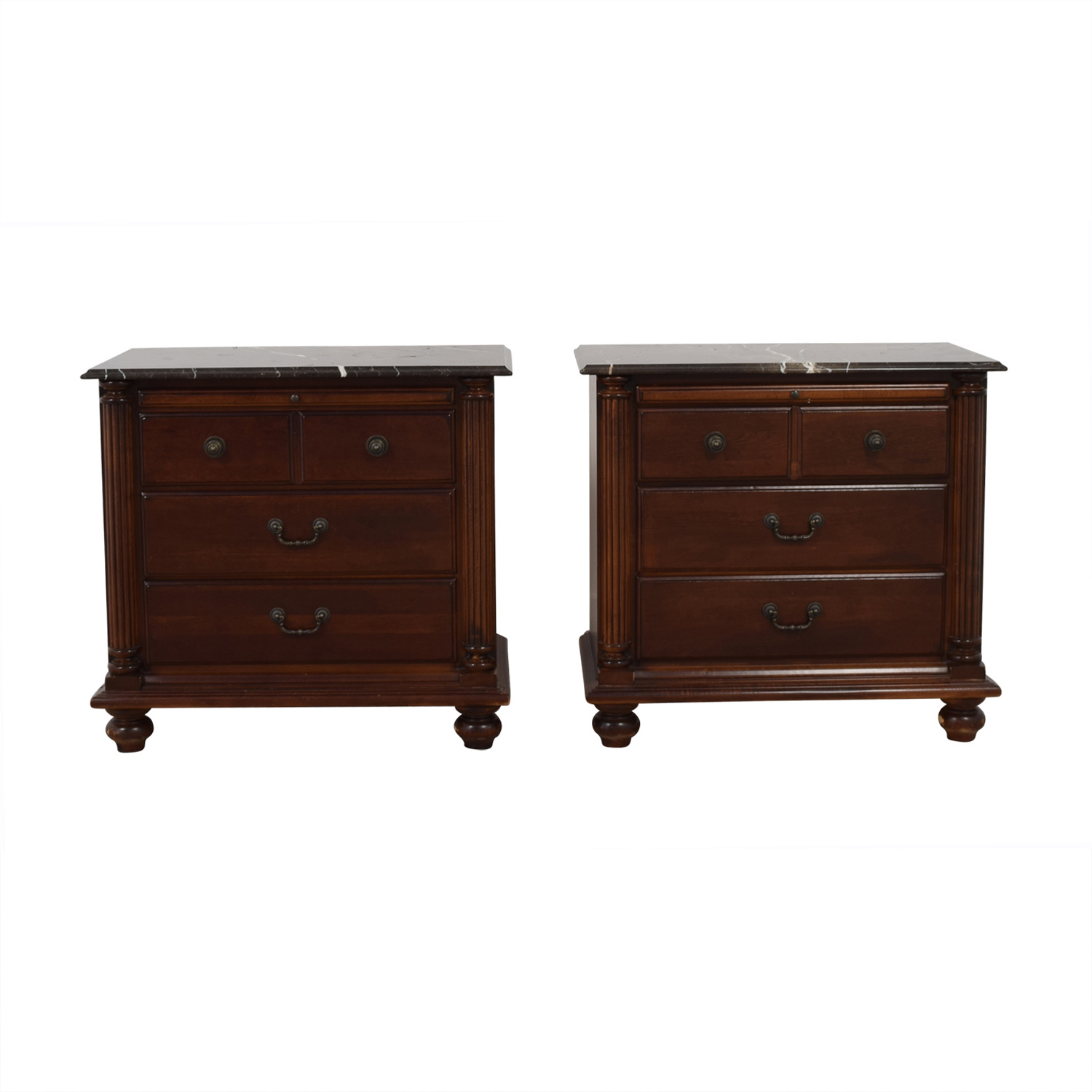 shop Hooker Marble Top Three-Drawer Night Stands Hooker End Tables