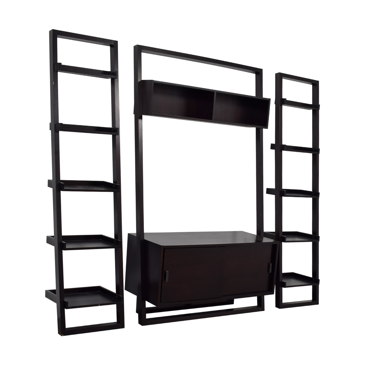 Crate & Barrel Crate & Barrel Sawyer Leaning Media Stand Bookshelves second hand