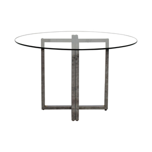 CB2 CB2 Silverado Chrome Round Dining Table price