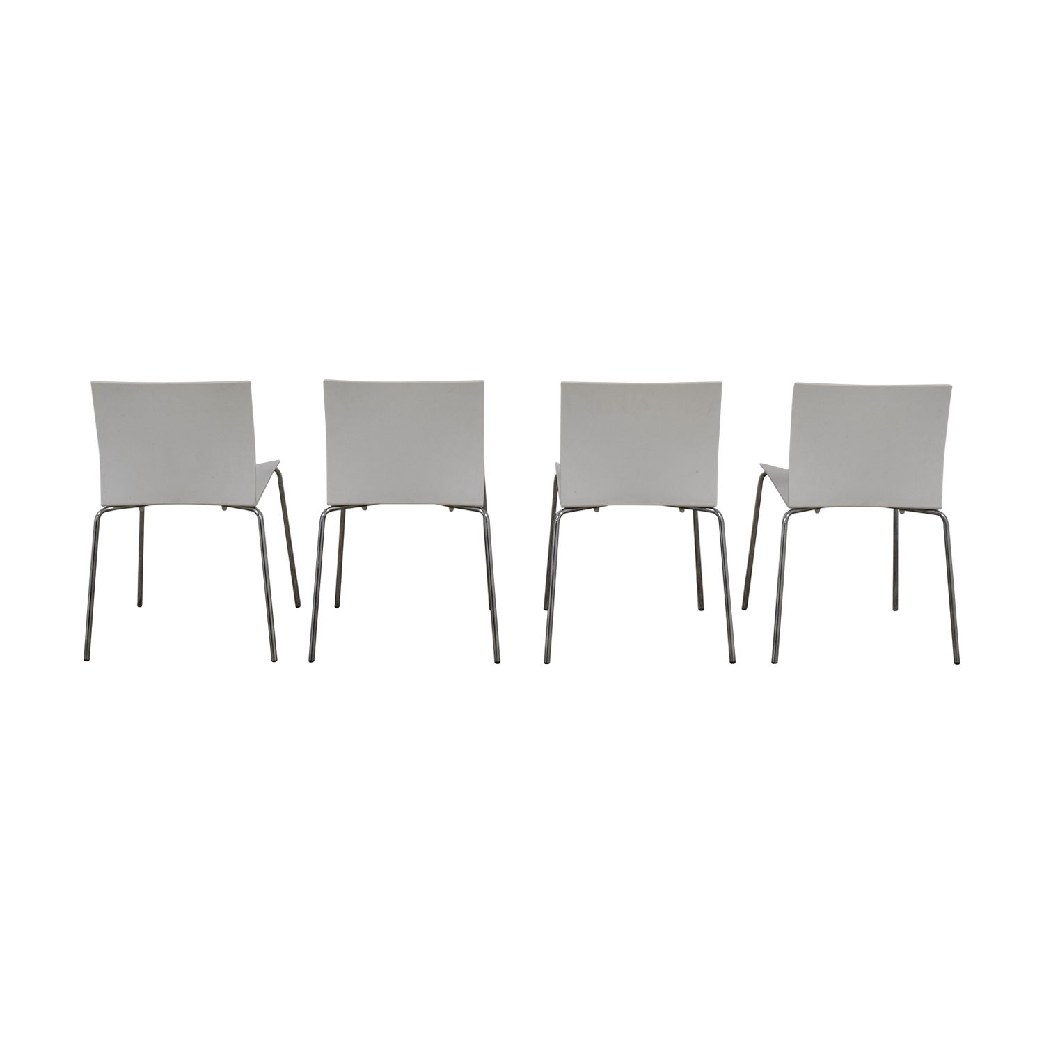 CB2 CB2 Slim White Chairs Dining Chairs
