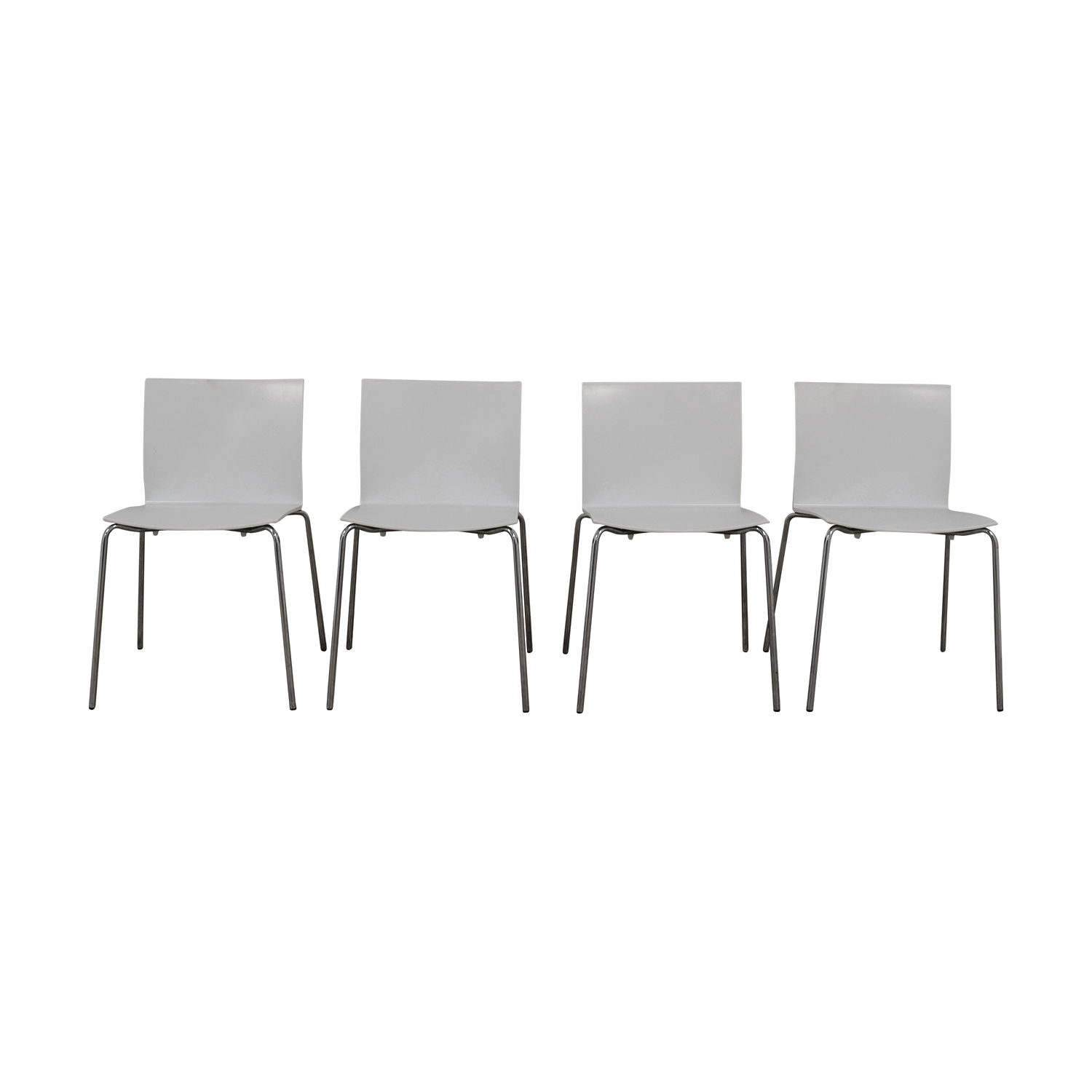 CB2 CB2 Slim White Chairs discount