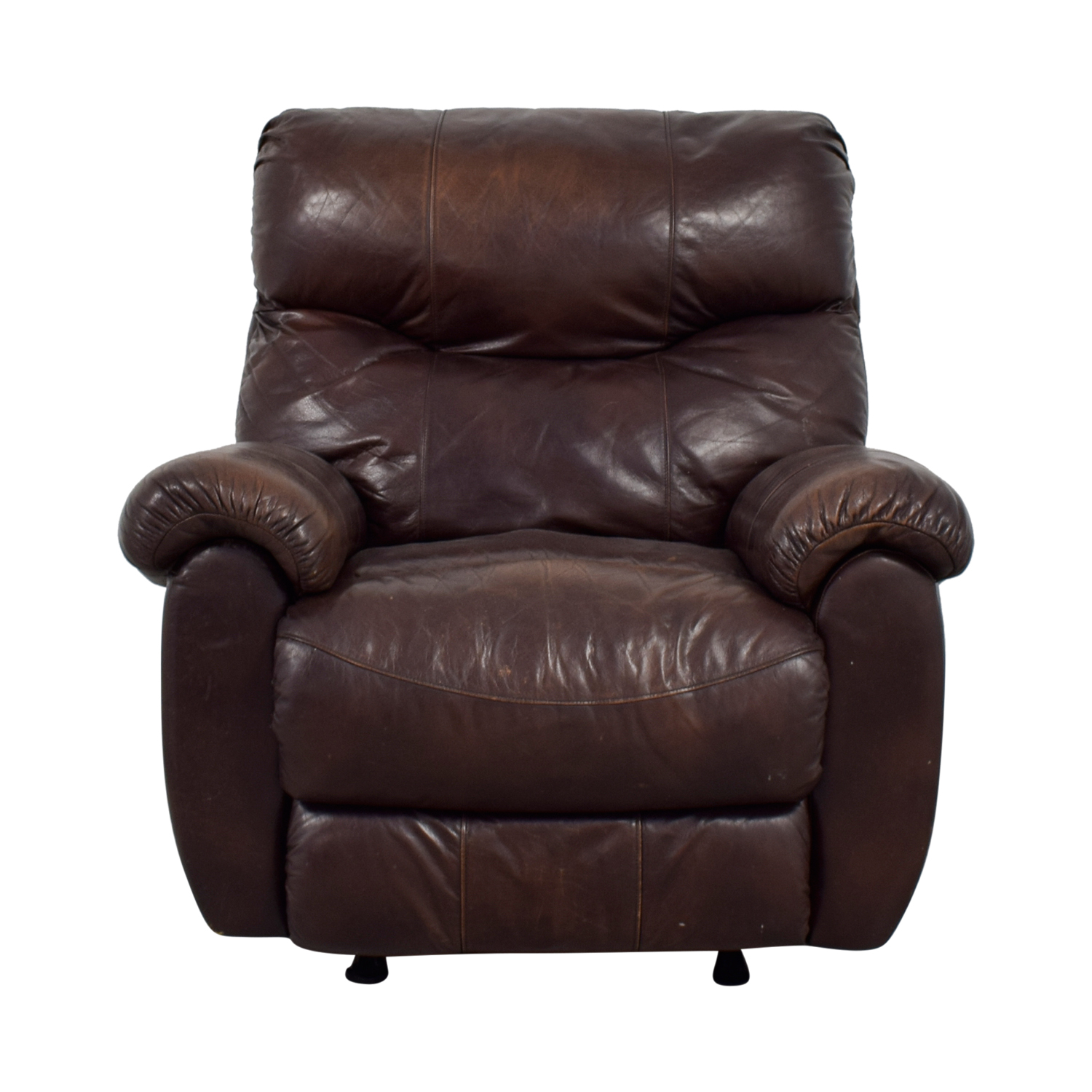 Brown Leather Recliner with Pillowed Arms coupon