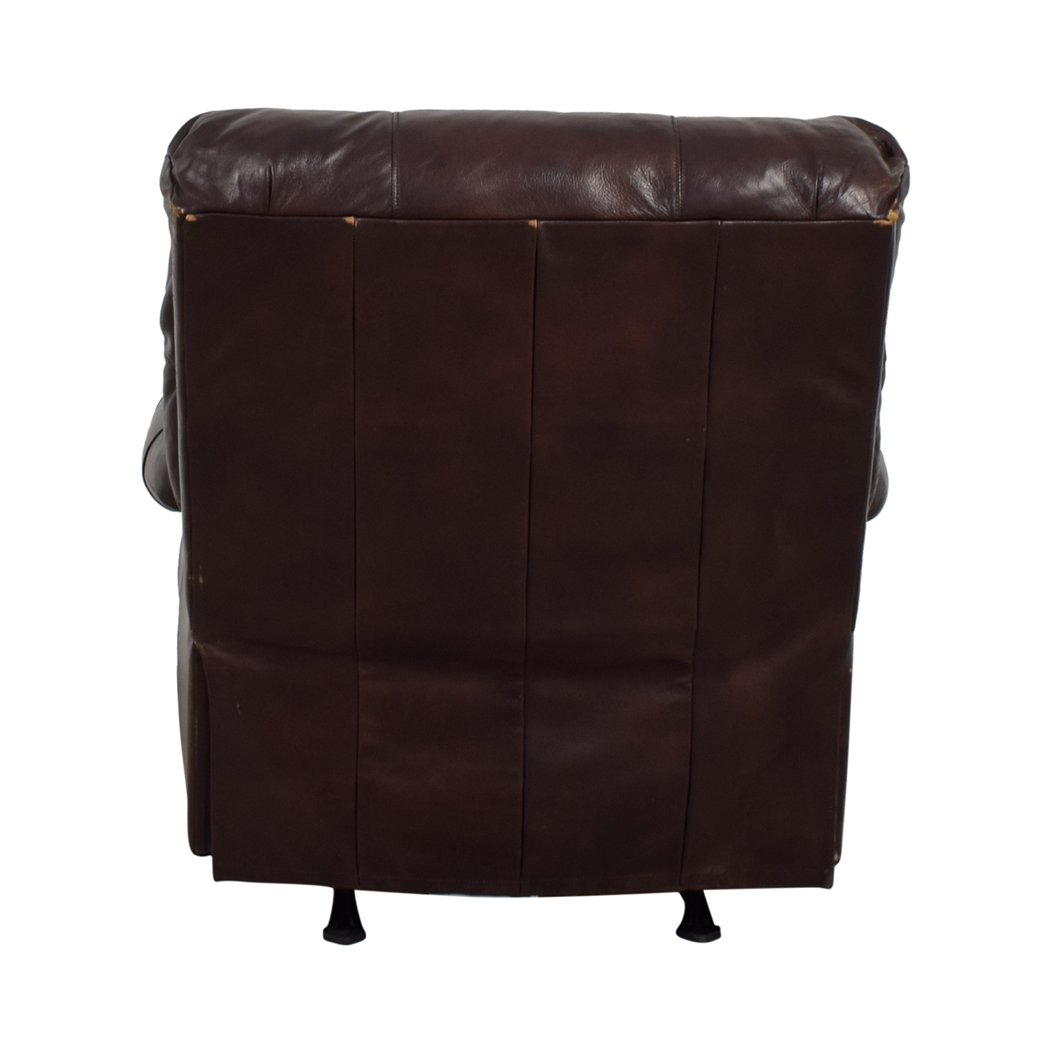 shop Brown Leather Recliner with Pillowed Arms