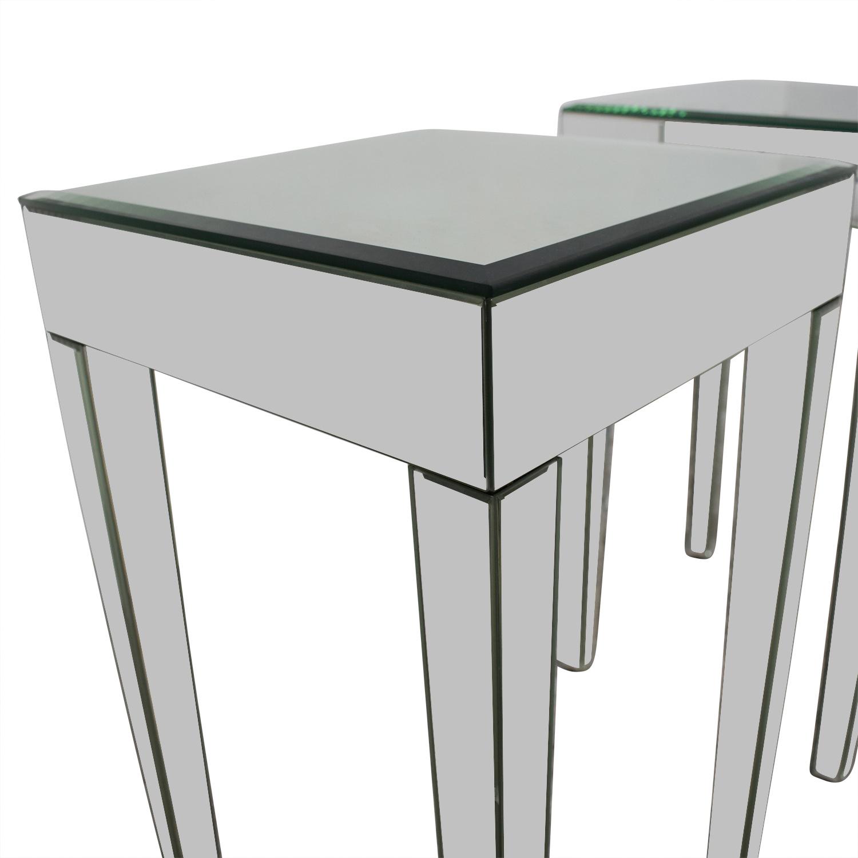 Fine 73 Off Target Target Mirrored Side Tables Tables Inzonedesignstudio Interior Chair Design Inzonedesignstudiocom