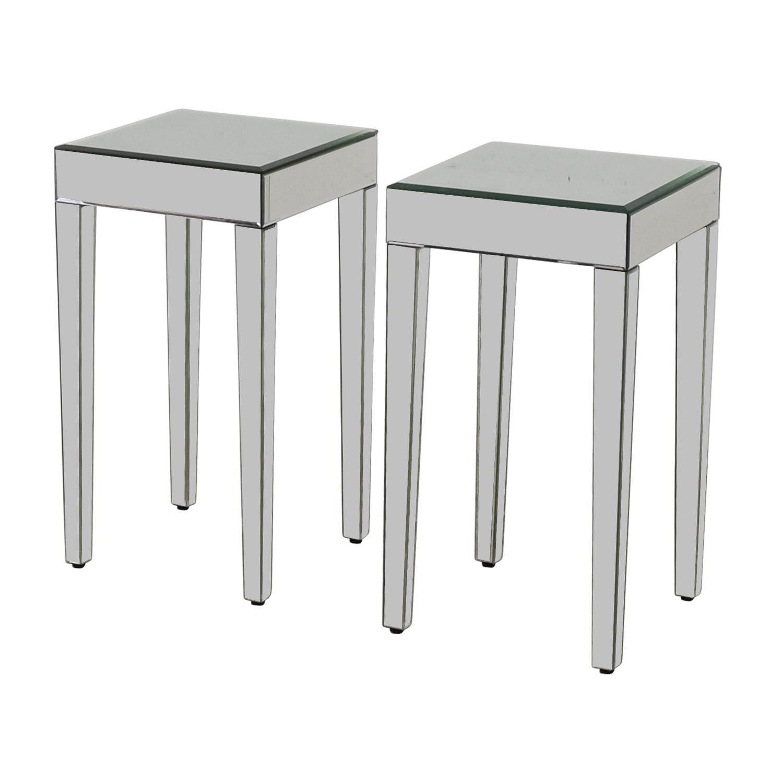 Marvelous 73 Off Target Target Mirrored Side Tables Tables Inzonedesignstudio Interior Chair Design Inzonedesignstudiocom