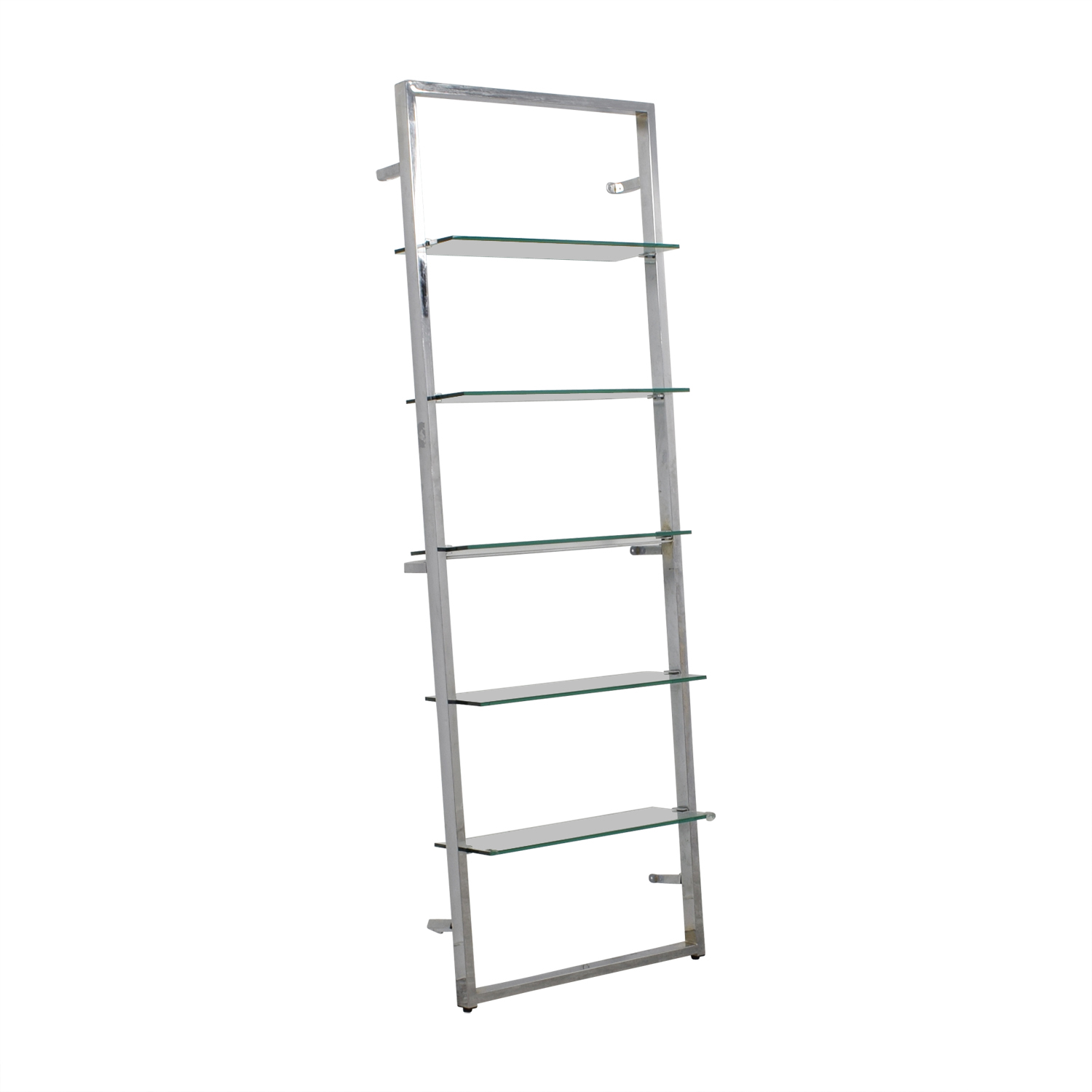 CB2 CB2 Tesso Chrome and Glass Wall Mounted Bookcase