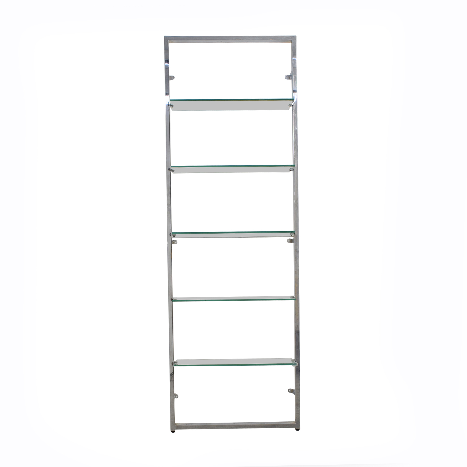 CB2 CB2 Tesso Chrome and Glass Wall Mounted Bookcase nyc