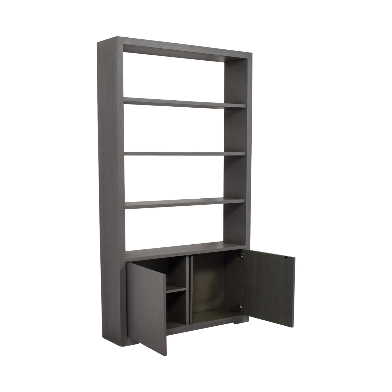 Desiron Desiron Barrow Grey Bookshelf With Storage Storage