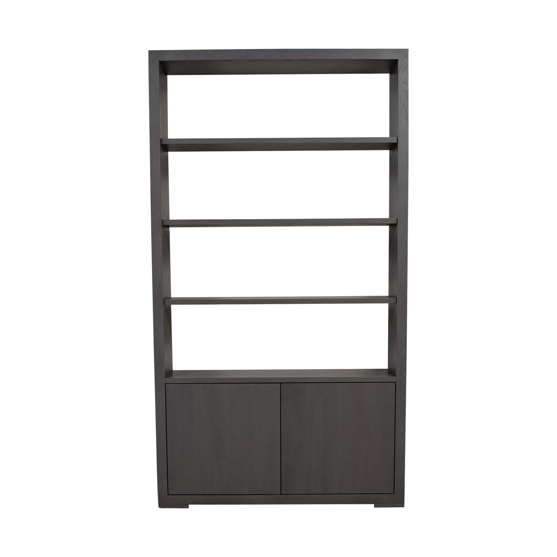 Buy Desiron Desiron Barrow Grey Bookshelf With Storage Online