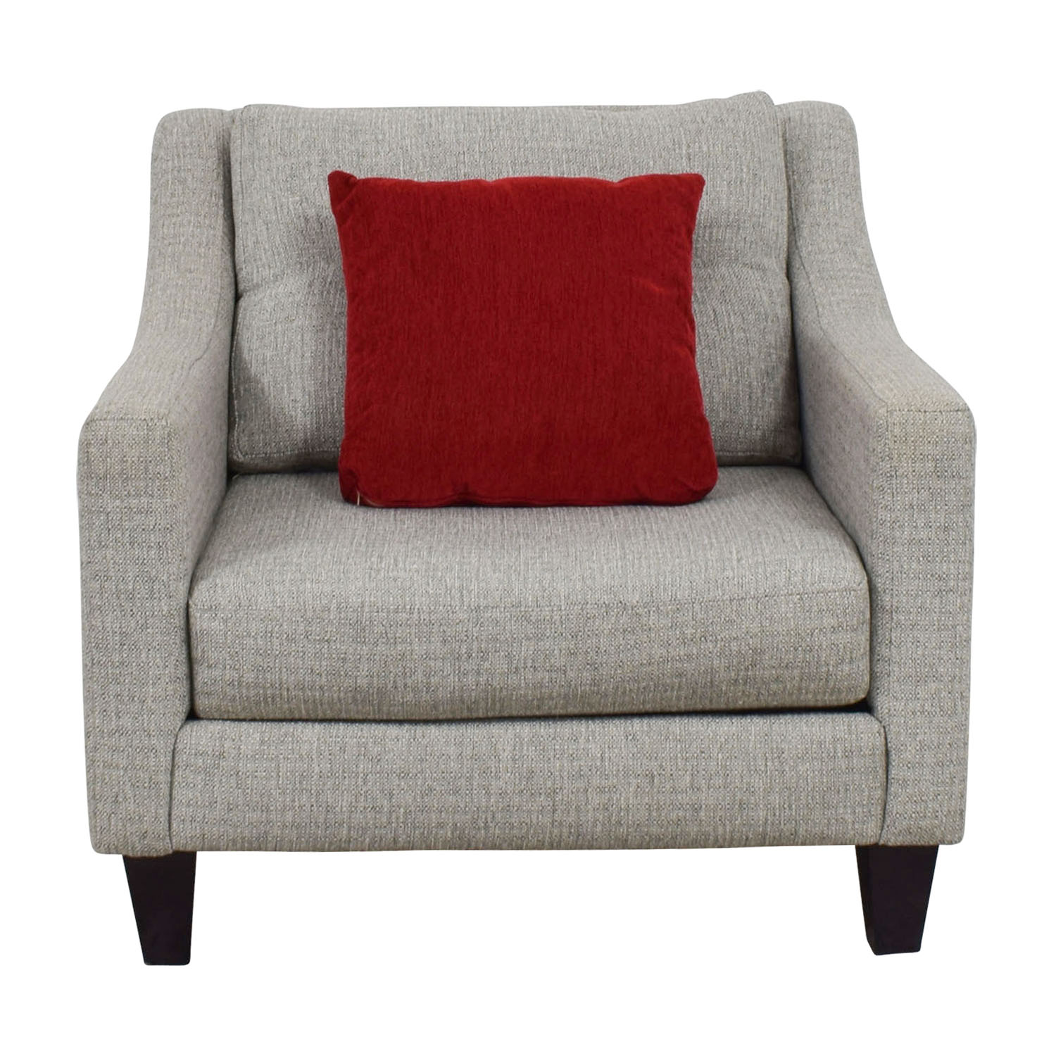 buy Raymour & Flanigan Modern Gray Armchair Raymour & Flanigan Accent Chairs
