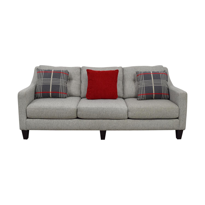 Raymour & Flanigan Raymour & Flanigan Modern Gray Three-Cushion Couch
